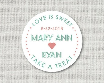 1:27 Treat Bag Stickers Smore Love Stickers Custom Wedding Stickers Favor Bag Labels Smore Favor Stickers Wedding Favor Stickers