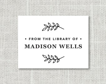 From the Library of Stickers, Personalized Book Plate Stickers, Set of 28 Custom Library Stickers, This Book Belongs to Stickers