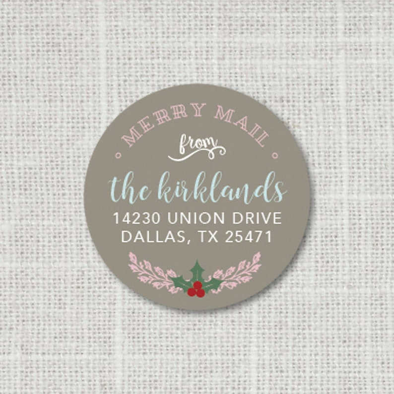 Personalized Christmas Gift Stickers Merry Mail Christmas Stickers Holiday Stickers for Letters 8:41 Holiday Address Stickers