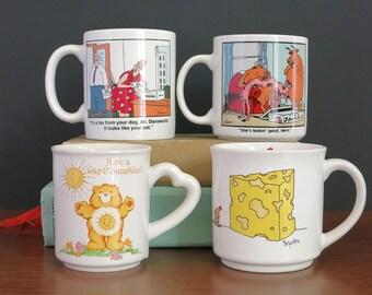 Novelty Comic Strip Coffee Mugs - Far Side Mug, Care Bears Mug, Boynton Big Cheese Mug - Gary Larson Dog Cat Cow Vern Sunshine - Choose One