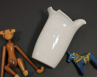 Large Vintage Dansk Flora Bird Vase - Flora Vase - Dansk Dove Flower Vase - White Dansk Flora Dove Vase Gunnar Cyren Design Dansk Porcelain