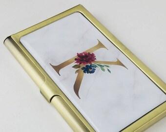 Floral Visitenkarten Etui Für Frauen Metall Etsy