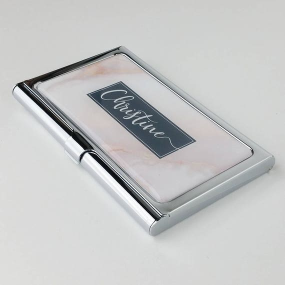 personalized business card case cute business card holder for