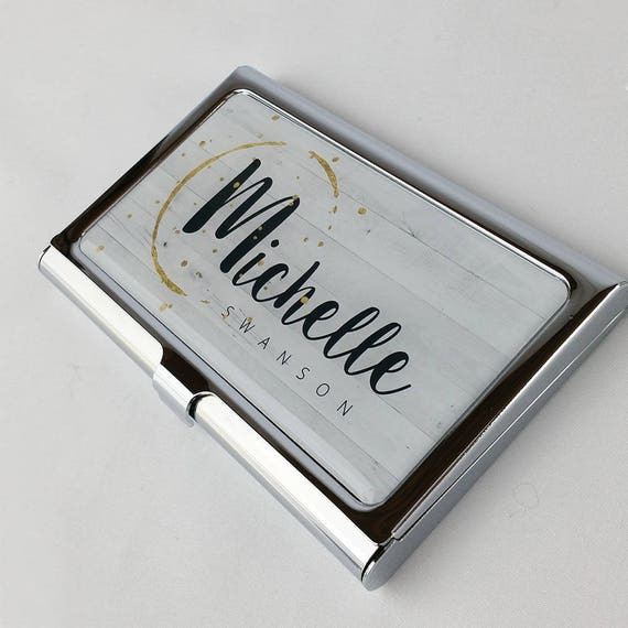Personalized Business Card Holder Custom Business Card Case Etsy
