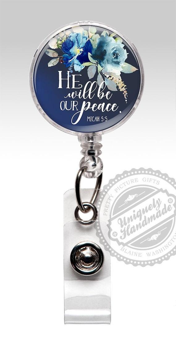 Badge Reel Faith Faith Badge Reel ID Clip Badge Reel Love Nurse Gift Retractable Badge Reel ID Badge Holder