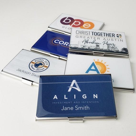 Kundenspezifische Visitenkarte Halter Personalisierte Visitenkarten Etui Mitarbeiter Anerkennung Kreditkarteninhaber Personalisierte Geschenk
