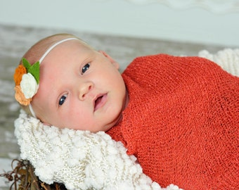 Coral RTS Stretchy Soft Newborn Knit Wraps 80 colors to choose from, photography prop newborn prop wrap