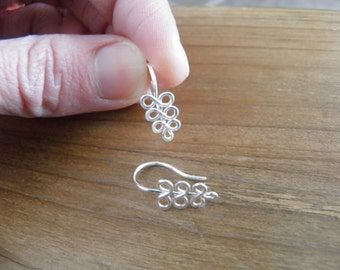 """Earrings... """"ferns"""" handmade wire wrapped and hammered sterling silver earrings."""