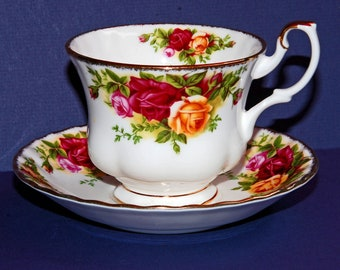 Royal Albert 1962 Old Country Roses Demitassi Cup and Saucer Set