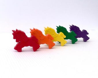 Unicorn Crayons - Bright Colours, Unicorn, Crayons, Kids, Kids Gifts, Party Favours, Favors, Unicorn Party, Natural Crayons, Non-toxic