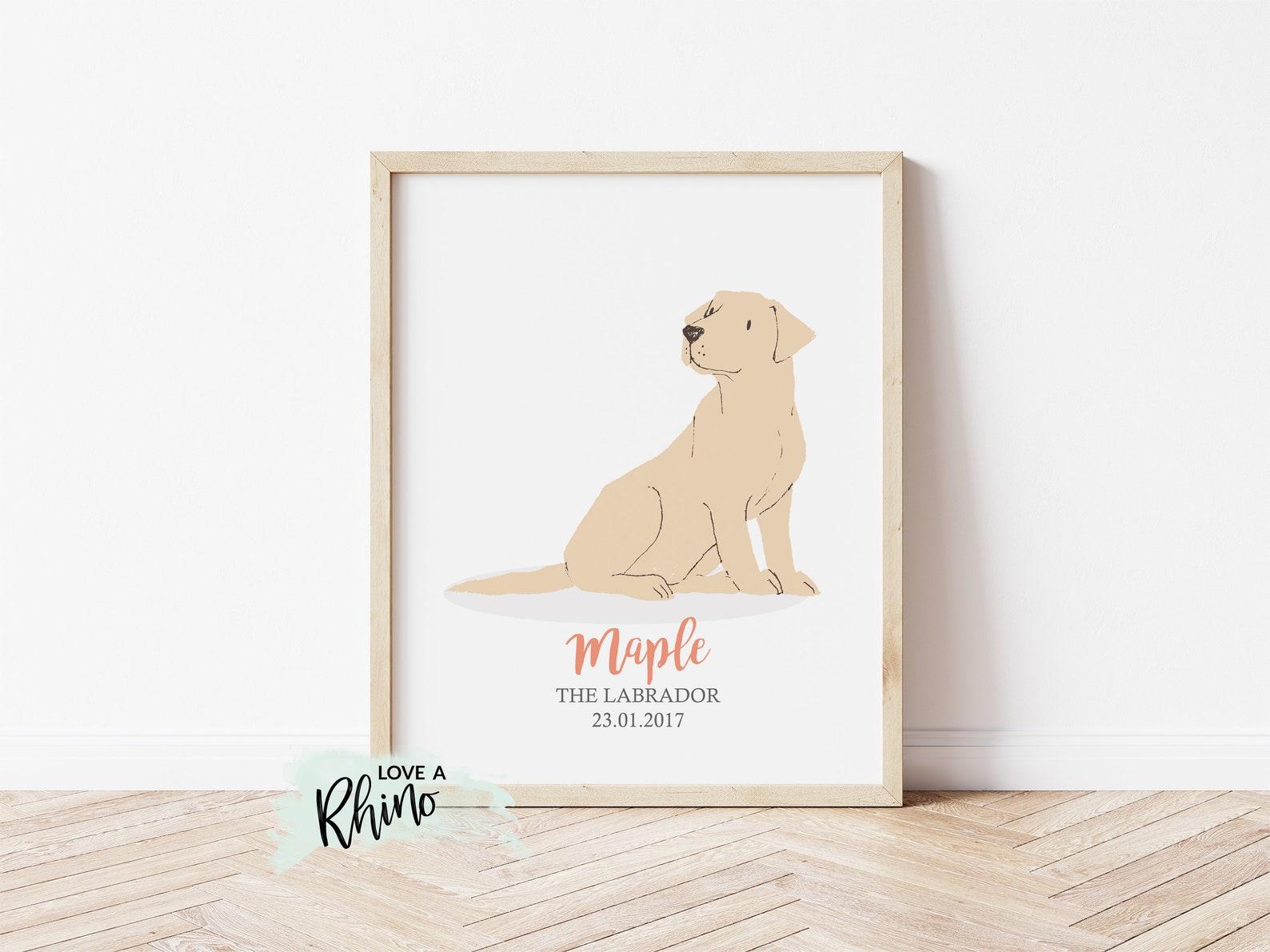 Personalised Labrador Print Art