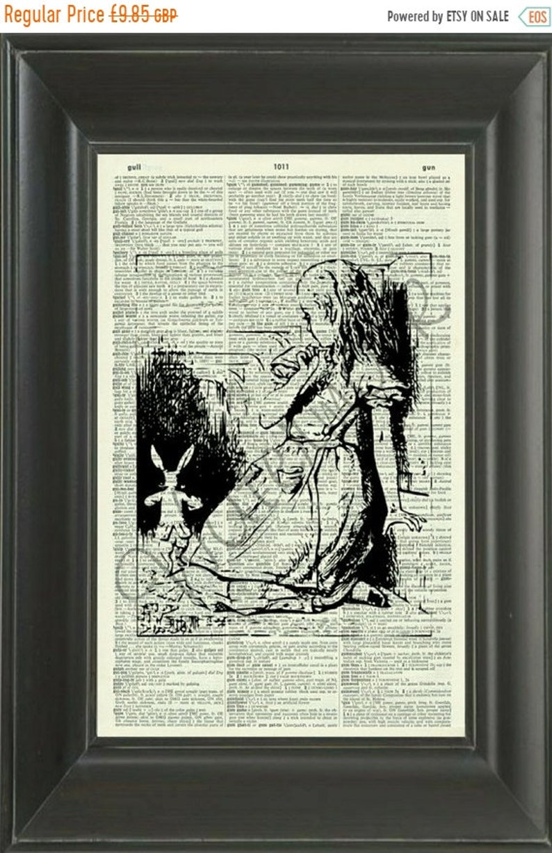 541364074b28 40% OFF SALE Alice and the Tunnel 233D Vintage Dictionary