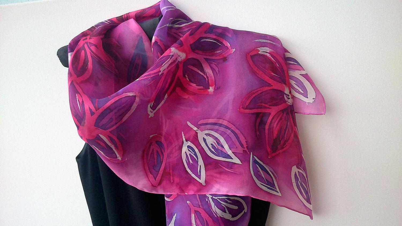 Hot batik - original idea for silk scarves