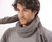 Big Soy Scarf, Gray Men Scarf, Gray shawl