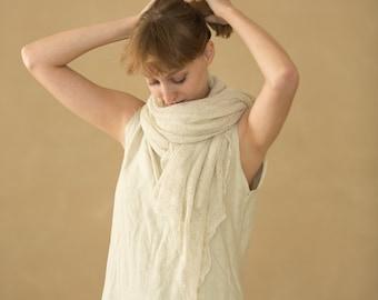 Natural knitting scarf ,knitted shawl