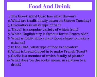 Trivia Time   Trivia Pub Quiz   TT-02   Digital Download   Instant Access   4x Rounds of  10 Questions   40 Questions In Total   Order Now