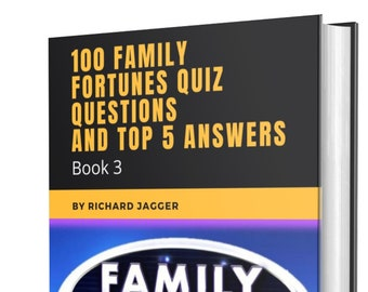 100 Family Fortunes / Family Feud Quiz Questions And Answers - Book 3 - Instant Delivery
