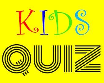 Kids Quiz - Children's Reveal Picture Quiz - 5 Rounds - 50 Questions - Family Games Night - Kids Activity - Classroom Quiz