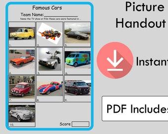 Picture Quiz - Picture Round 10 - Famous Cars Picture Quiz