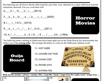 Weekly Quiz 2019-42 - Halloween Quiz Questions And Answers Pub Quiz / Party Game / Family Party