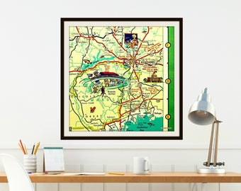 Tallahassee Map Art Tallahassee Gifts, High School Graduation Gift, Tallahassee Map Gifts FSU gifts Dorm Decor Art, Florida State University