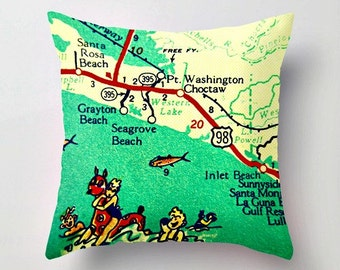 Seaside Florida Map.Alys Beach Etsy