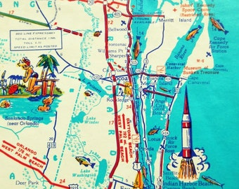 Indian Shores Florida Map.Tampa Florida Map Clearwater St Petersburg Beach Home Decor Etsy