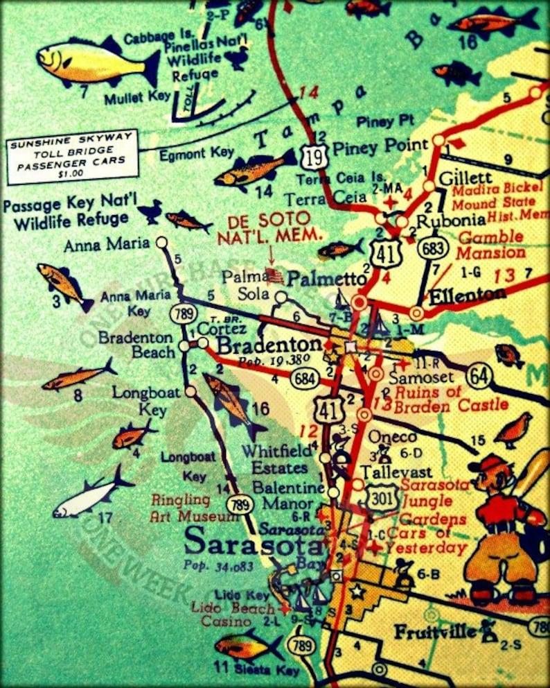 Holmes Beach Florida Map.Anna Maria Island Map Travel Gift Florida Map Art Anna Maria Etsy