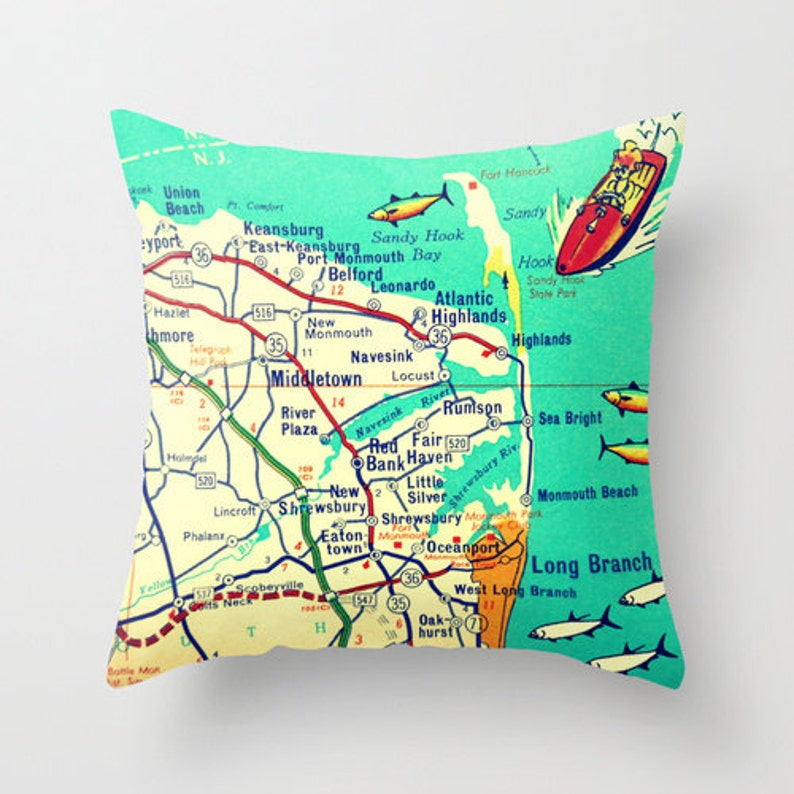 Jersey S Map Pillow Cover, Sandy Hook New Jersey Pillow Jersey S Map on newtown conn map, watertown map, fairfield map, avalon map, jacob riis park map, beach haven map, westport map, white plains map, prospect map, cherry hill map, long branch map, newtown connecticut map, albany map, essex map, new castle map, bloomfield college map, milford map, tuckerton seaport map, roxbury map, woodstock map,