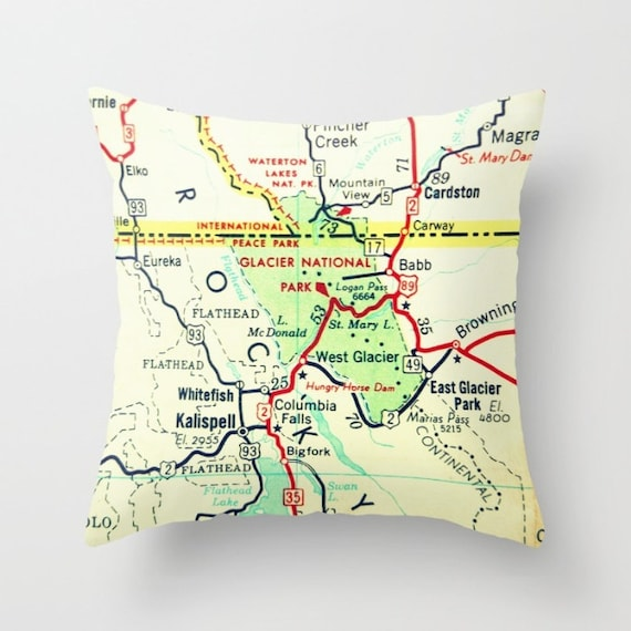 Glacier National Park Map Pillow Cover RV Gift, Printed Pillow, RV on united states map, bighorn canyon national recreation area map, olympic national park, acadia national park, zion national park, redwood national park map, canada map, arches national park, grand tetons map, crater lake national park, many glacier map, idaho map, going-to-the-sun road, rocky mountains, great smoky mountains national park, montana map, bryce canyon national park, hawaii volcanoes national park map, death valley national park, katmai national park and preserve map, yellowstone national park, city of rocks national reserve map, washington alpine lakes wilderness area map, yosemite national park, rocky mountain national park, denali national park and preserve map, sequoia national park, canyonlands national park, little bighorn battlefield national monument map, national mall and memorial parks map, death valley map, grand teton national park, alaska national parks map, badlands national park, lake mcdonald, rocky mountains map, sequoia national park map, grand canyon national park, kings canyon national park map,