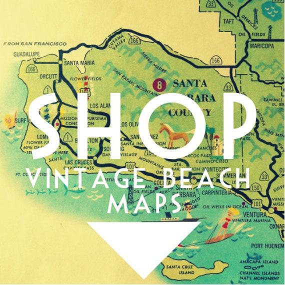 Tampa Florida map, Clearwater St Petersburg beach home decor, vintage beach  art, retro Florida, Wanderlust Art, Wanderlust Gift, Travel Map