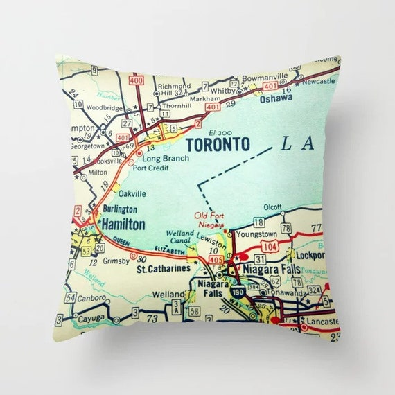 Toronto Pillow Covers Custom Canada Map Pillows Toronto Canada Gifts Niagara Falls Friends Moving Away Gifts