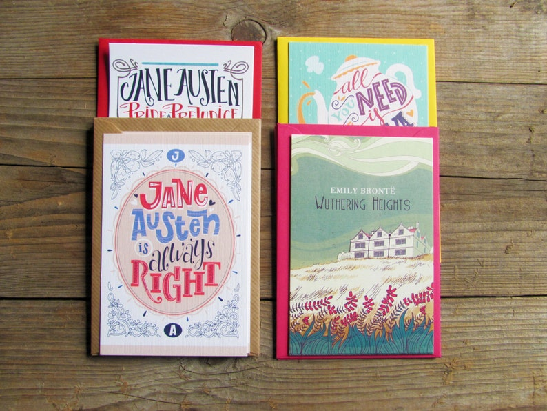 Pick your fave literary cards with envelopes. Book lovers image 0