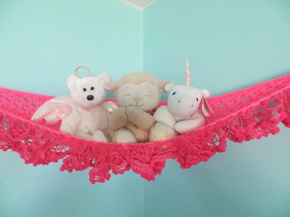 Stuffed Animal Hammock Small Crochet Toy Net For Displaying Etsy