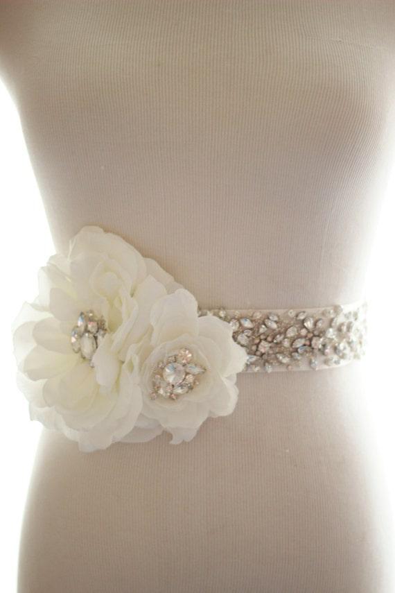 Bridal Rhinestone Belt Wedding Dress Sash Rhinestone Crystal Etsy