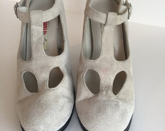 Wild Pair - Suede - Mary Jane Style - Heeled Shoes - Size 8