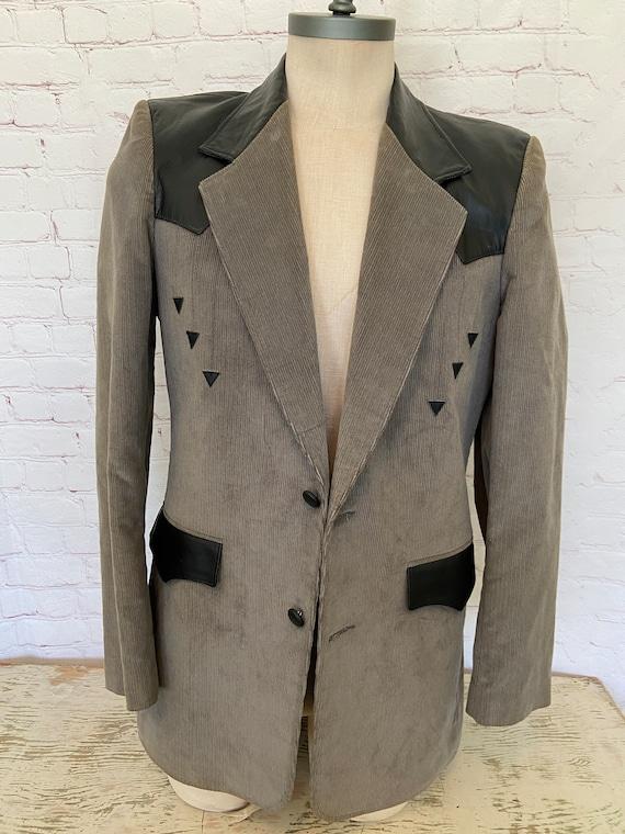 Pioneer Wear Mens Leather & Corduroy Suede Jacket