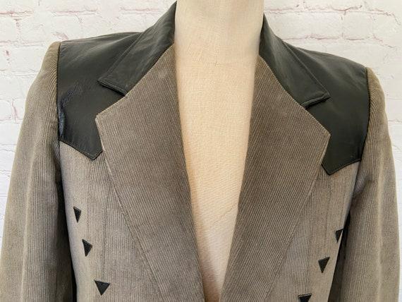 Pioneer Wear Mens Leather & Corduroy Suede Jacket… - image 2