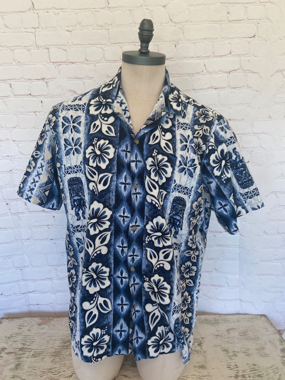Barkcloth Hawaiian Mens Shirt - XXXL