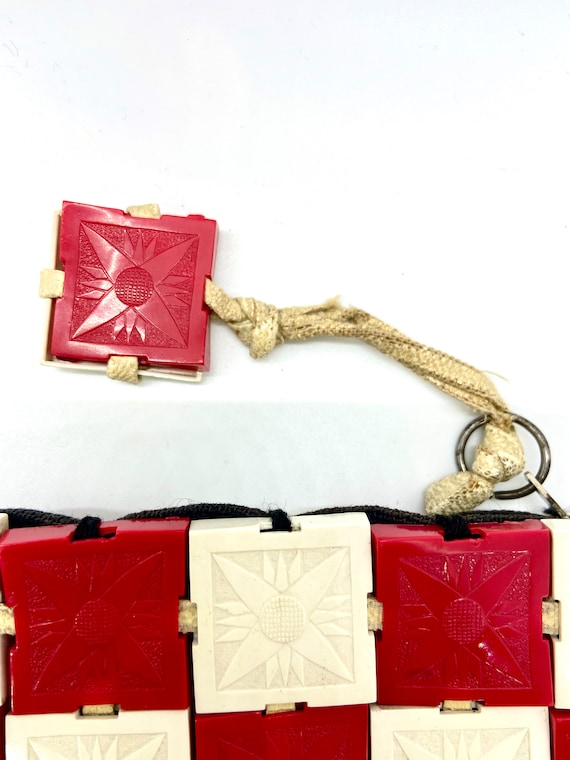 Plasticflex - 1940's  - Rare - Embossed Red and W… - image 9