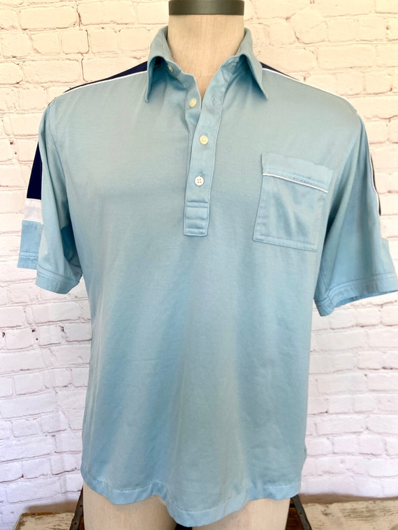 70's JCPenney Mens Polo Shirt - XL
