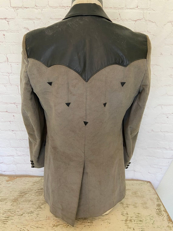 Pioneer Wear Mens Leather & Corduroy Suede Jacket… - image 7