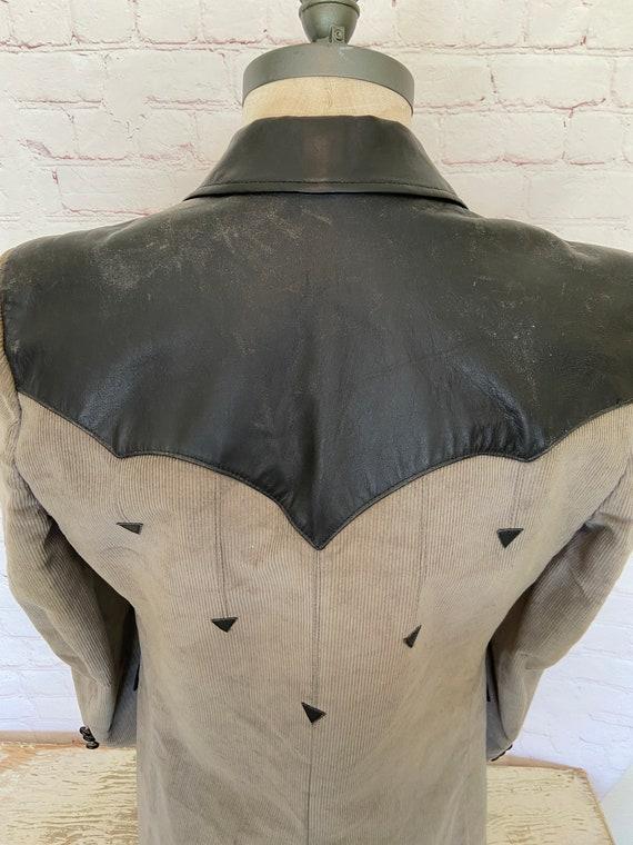 Pioneer Wear Mens Leather & Corduroy Suede Jacket… - image 9