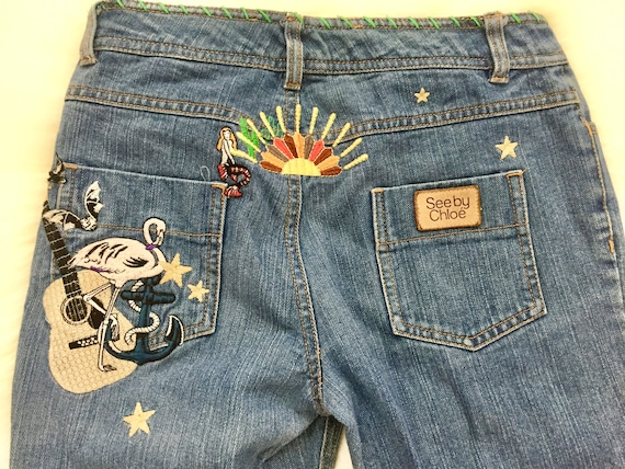 See by Choloe Embroidered Jeans