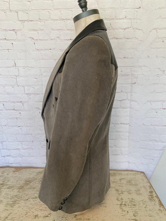 Pioneer Wear Mens Leather & Corduroy Suede Jacket… - image 5