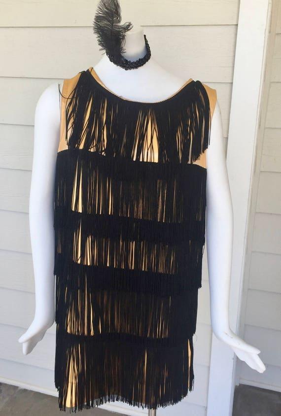 1950's Flapper Dress - Boa