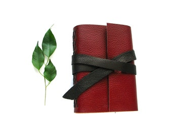 """Leather Journal or Sketchbook with strap 4""""x6"""""""