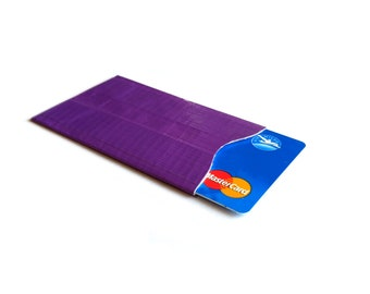 RFID blocking credit card protector, identity theft protection, choose your colour,