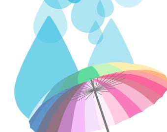 Raindrops on Rainbows, 8x10 Digital Download