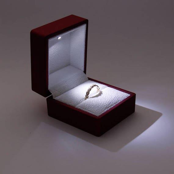 Verlobungsring Kasten Vorschlag Ring Box Hochzeit Ring Box Etsy